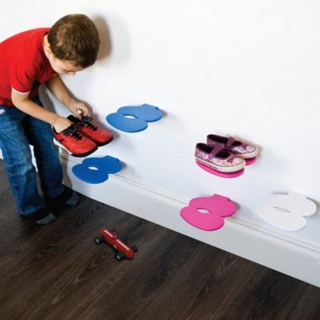 footprint children's shoe shelf